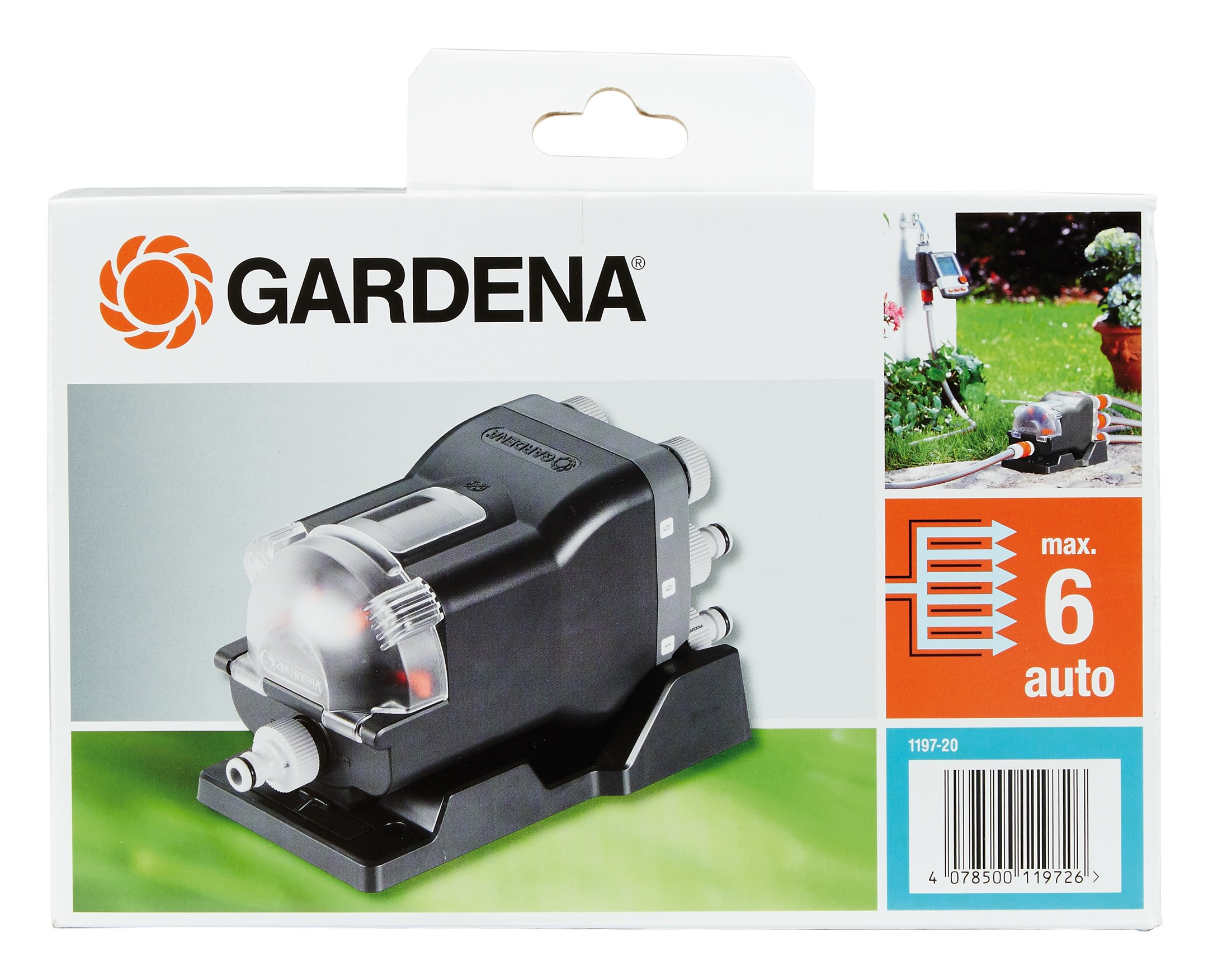 gardena wasserverteiler automatic 1197 20 01197 20. Black Bedroom Furniture Sets. Home Design Ideas