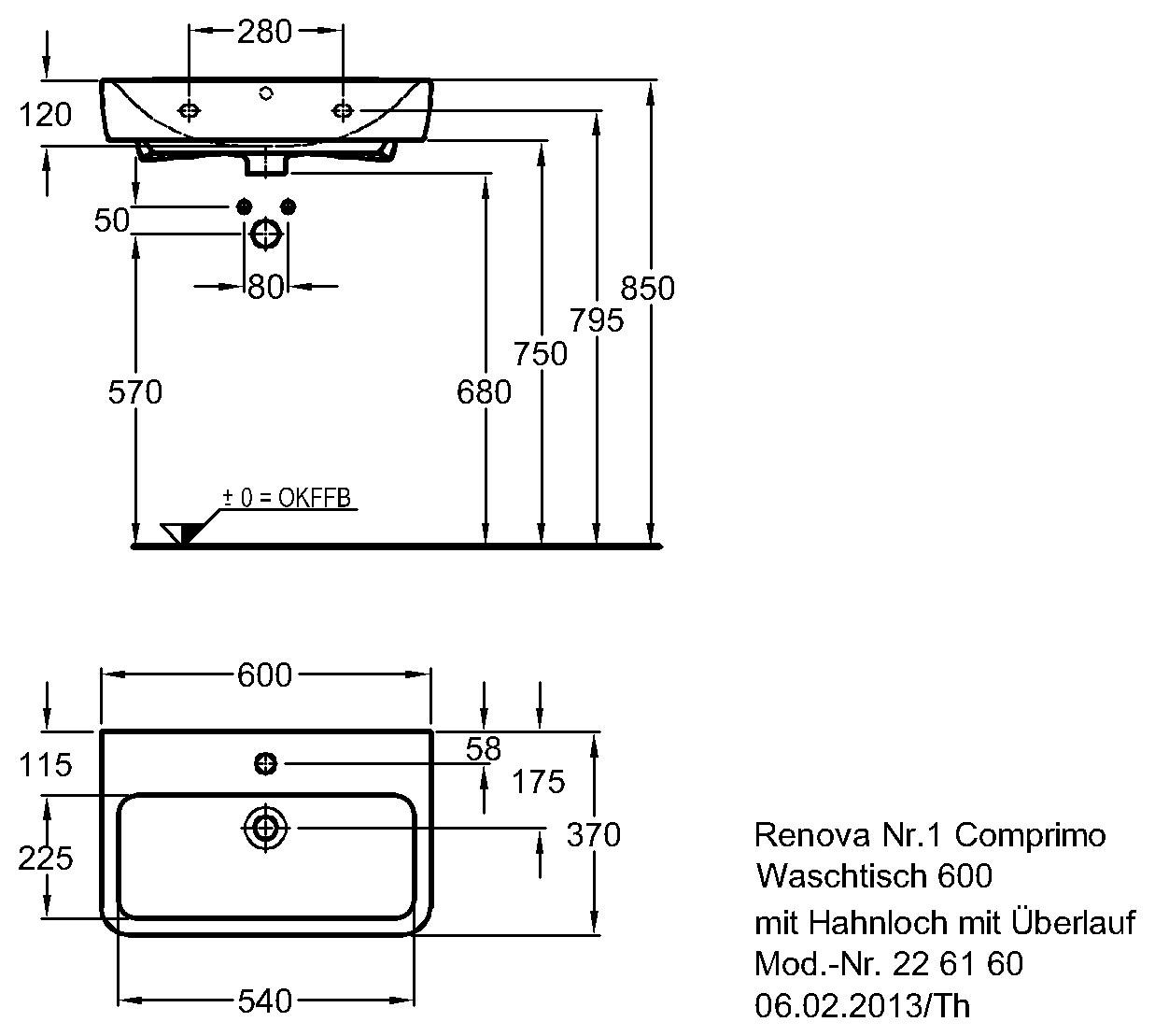 keramag renova nr 1 comprimo waschtisch 600mm x 370mm wei alpin keratect 226160600. Black Bedroom Furniture Sets. Home Design Ideas
