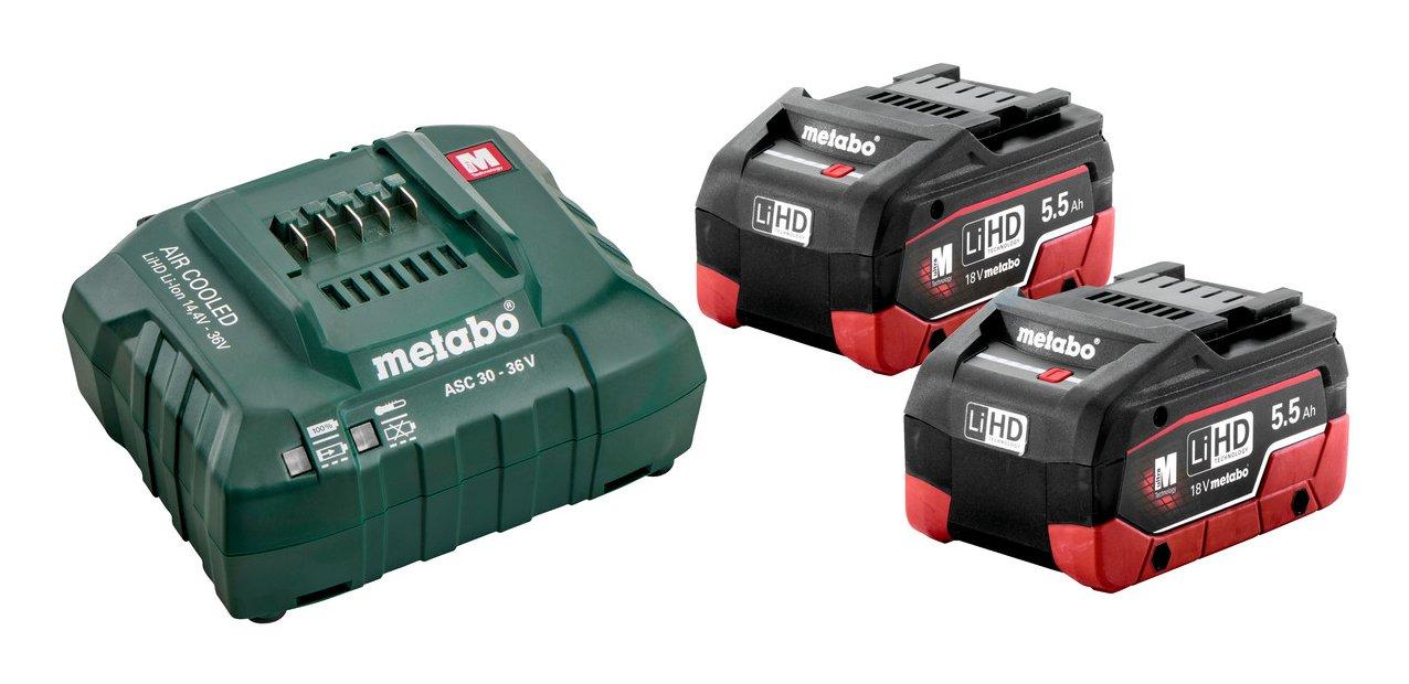Ladegerät Metabo Basisset 2 x LiHD 5,5 Ah Akkus 685122000