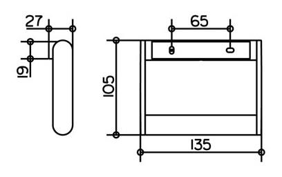 keuco plan toilettenpapierhalter diebstahlgesichert edelstahl 14961070000. Black Bedroom Furniture Sets. Home Design Ideas