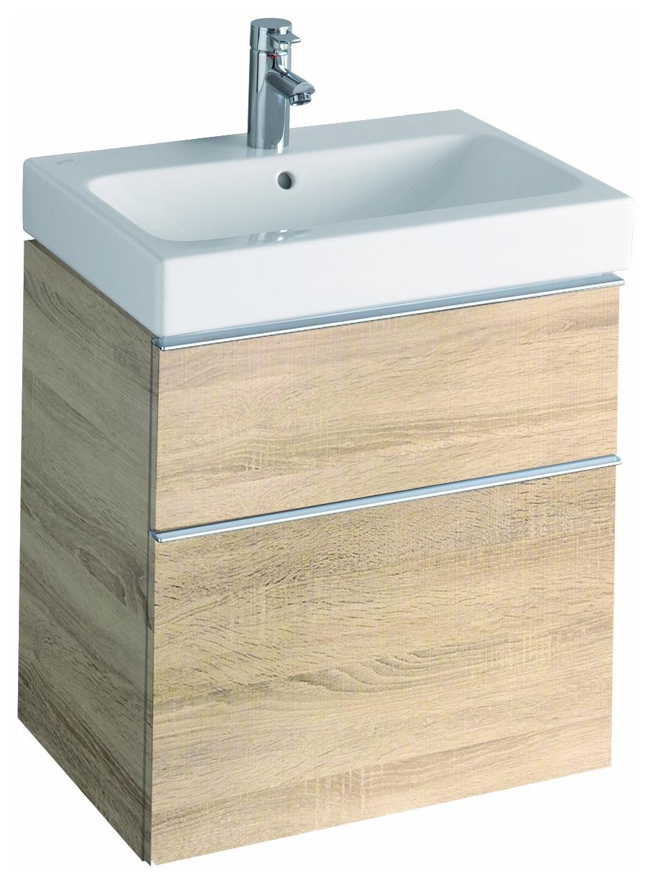 keramag icon waschtischunterschrank 595x620x477mm holzstruktur eiche natur. Black Bedroom Furniture Sets. Home Design Ideas