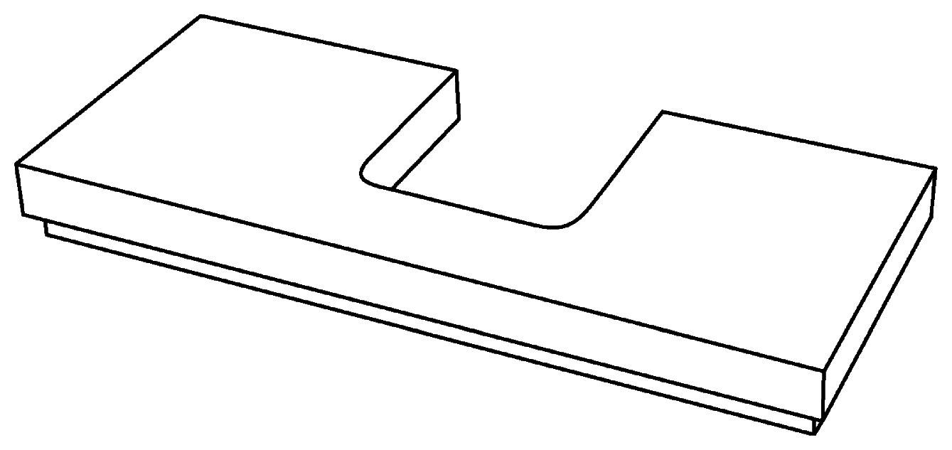 keramag silk waschtischplatte mit siphonausschnitt mittig 1200x470x100mm wei hochglanz. Black Bedroom Furniture Sets. Home Design Ideas