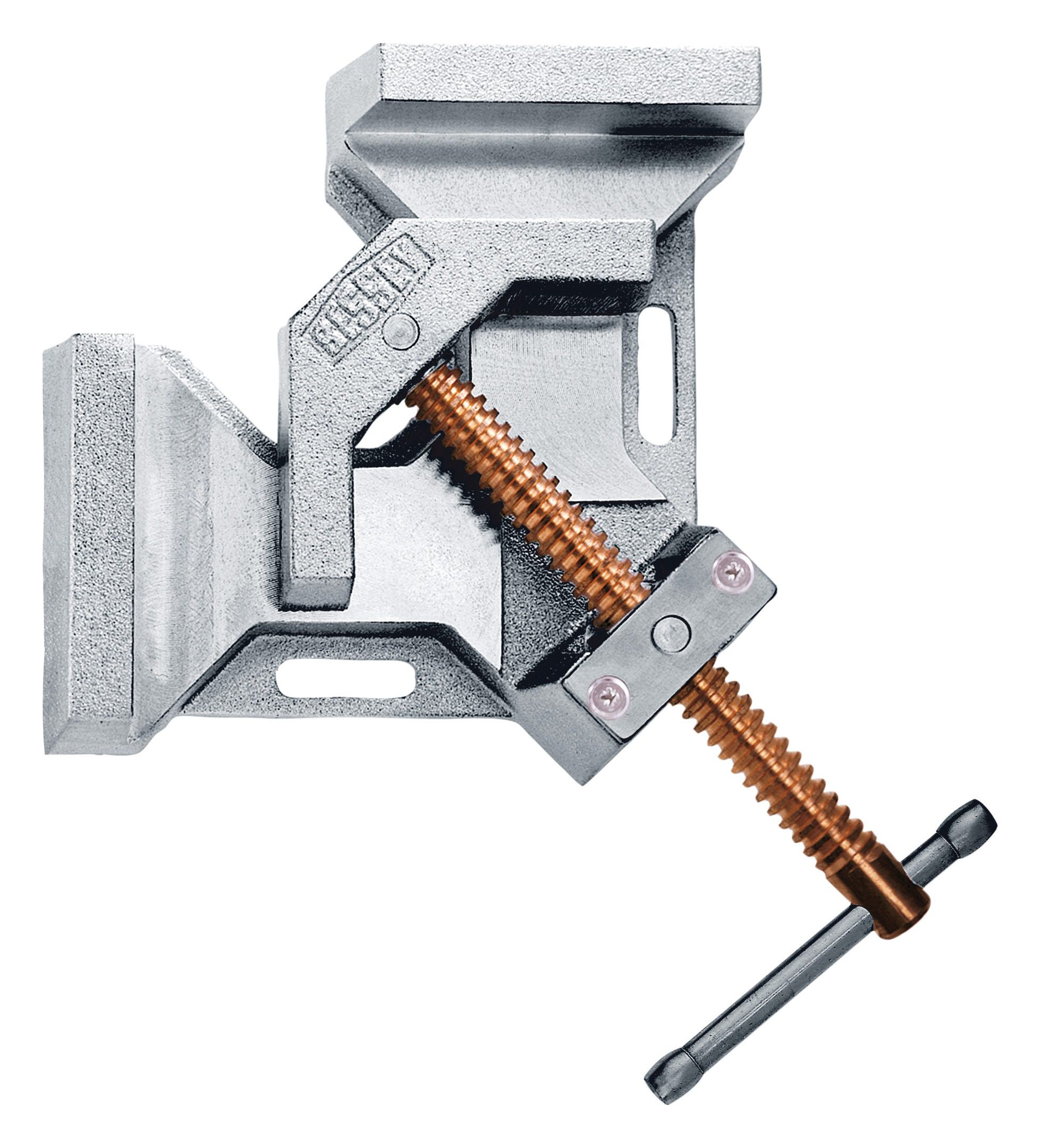 2 x Leimzwinge Stahlblech leicht 100 mm