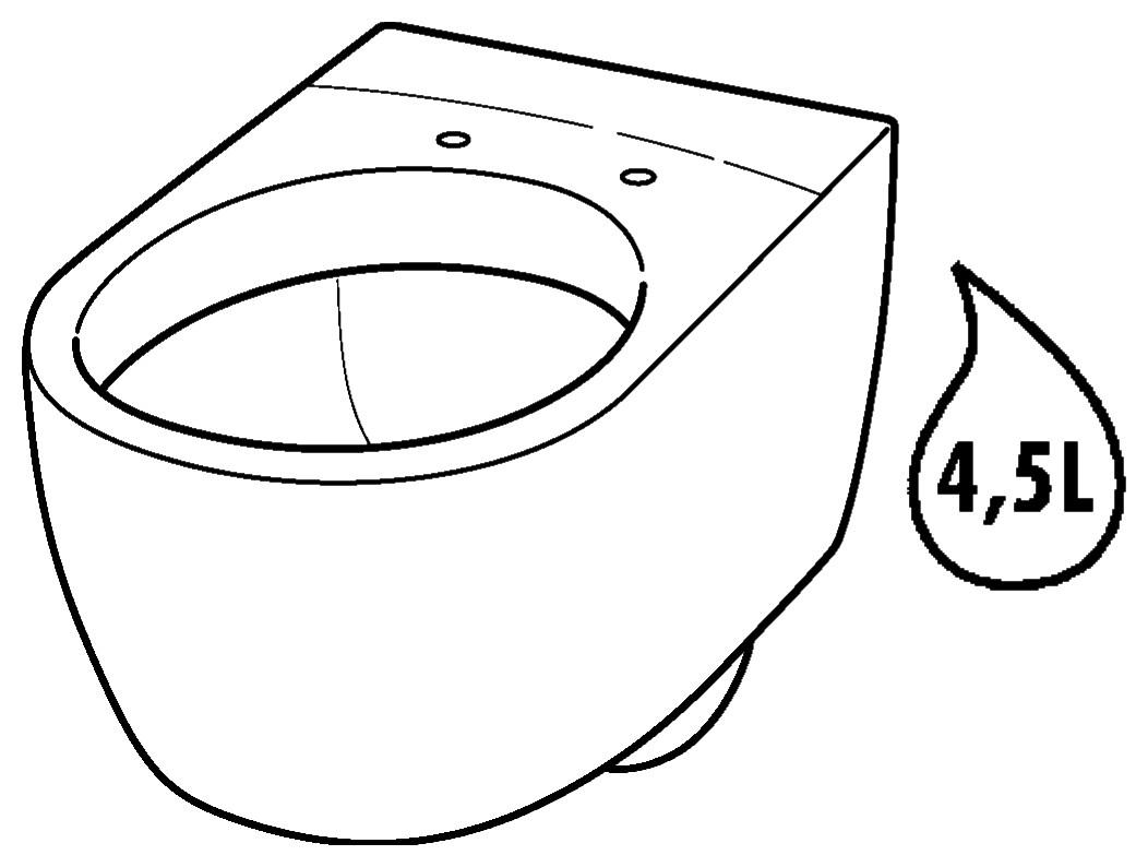 keramag icon xs tiefsp l wc kurz 6 liter wandh ngend wei alpin keratect 204030600. Black Bedroom Furniture Sets. Home Design Ideas