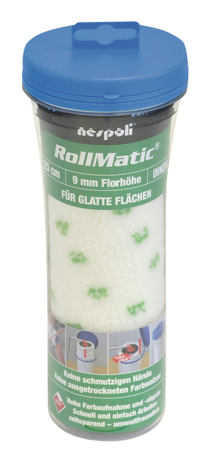 Farbwalze Rollmatic 25cm FH9mm - 525580225 800