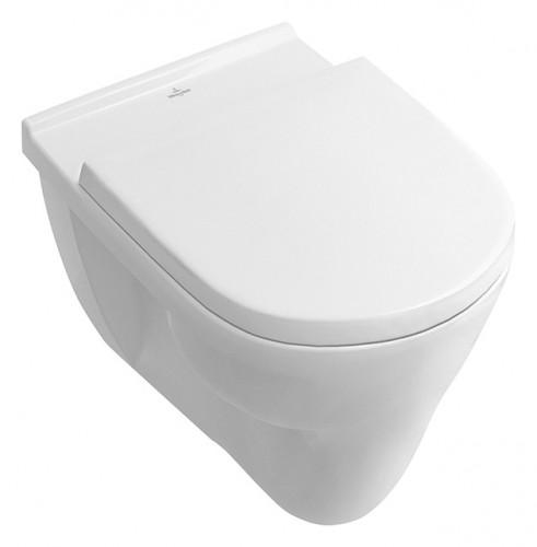 Villeroy & Boch O.Novo Flachspülklosett Wand-WC mit Spülrand Weiß Alpin  CeramicPlus