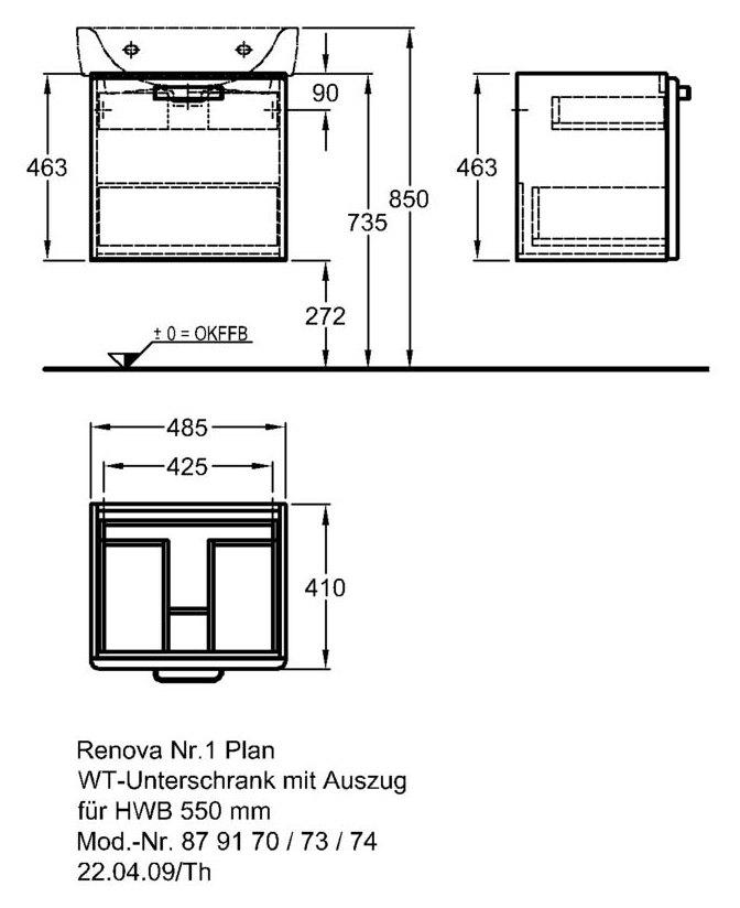 keramag renova nr 1 plan waschtischunterschrank 485x463x400mm mit auszug korpus wei front. Black Bedroom Furniture Sets. Home Design Ideas