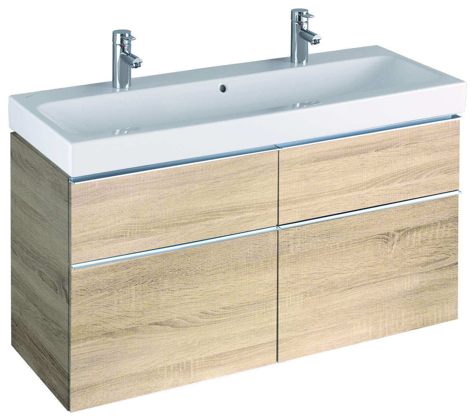 keramag icon waschtischunterschrank 1190x620x477mm holzstruktur eiche natur. Black Bedroom Furniture Sets. Home Design Ideas