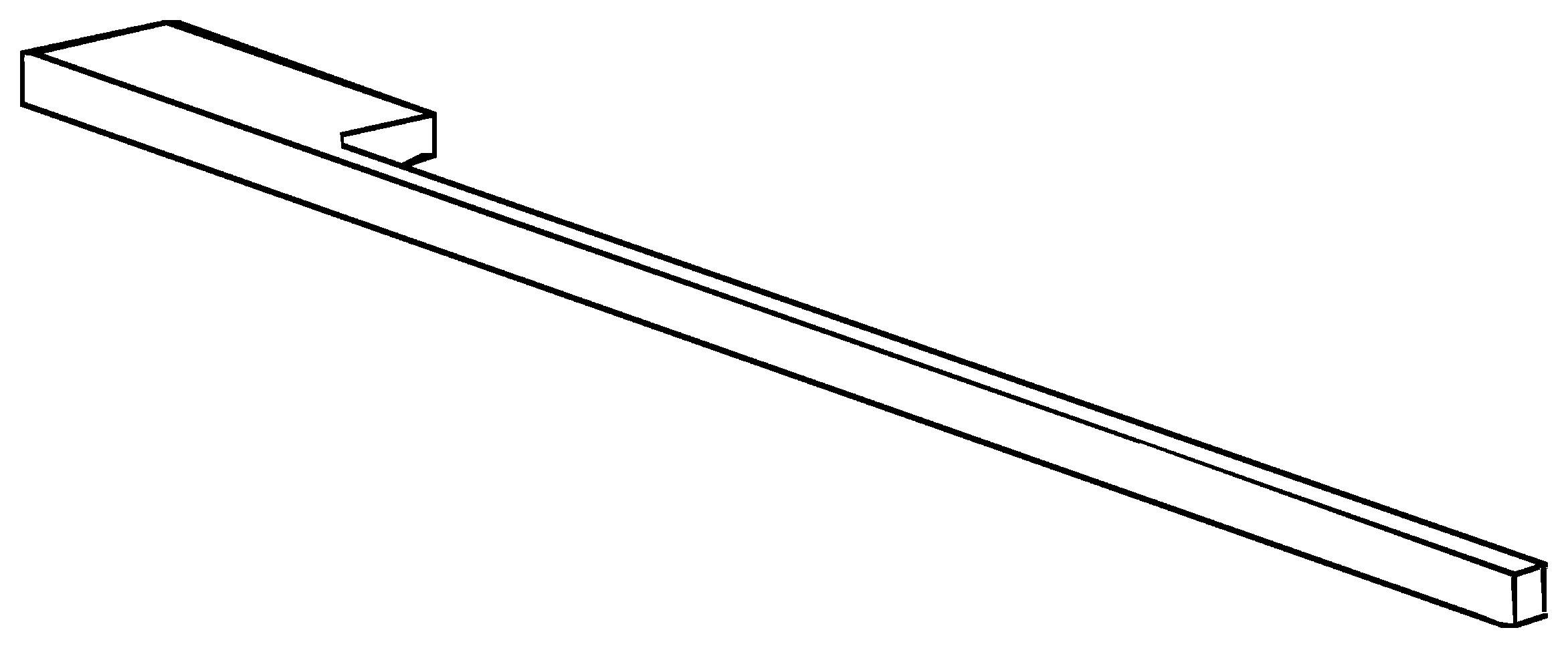 Keramag Geberit Handtuchhalter 400x10x40mm quadratisch