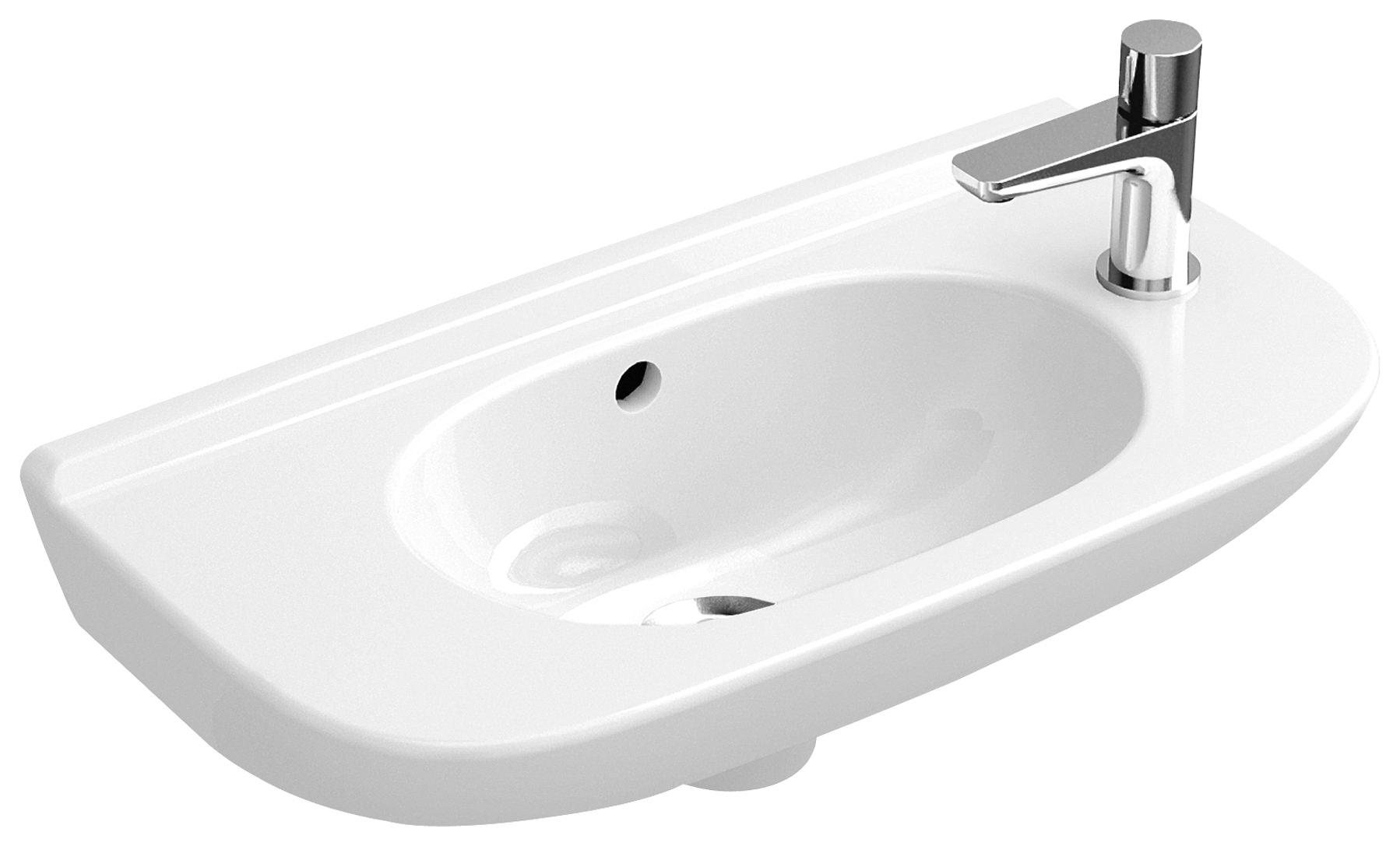 villeroy boch o novo handwaschbecken compact 500 x 250 mm ohne hahnloch vorgestochen mit. Black Bedroom Furniture Sets. Home Design Ideas