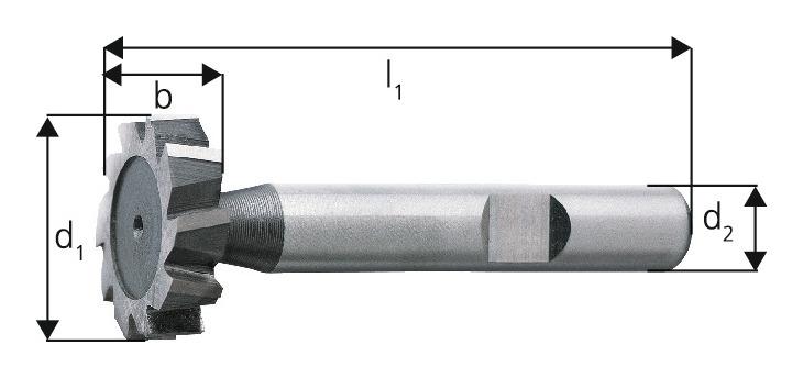 Forum Schlitzfräser D850D K HSSE 16,5 x 5 mm