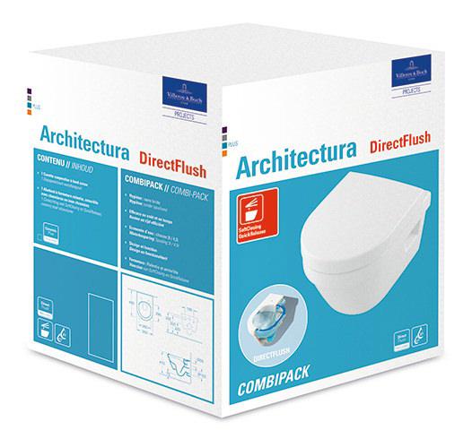 villeroy boch architectura combi pack compact toilette. Black Bedroom Furniture Sets. Home Design Ideas
