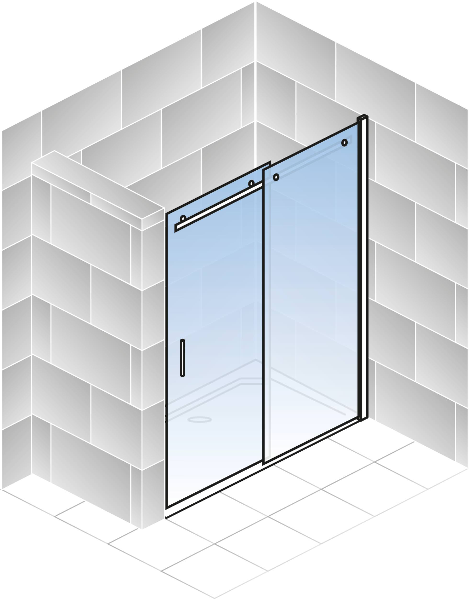 schulte alexa style 2 0 gleitt r f r nische klarglas hell chromoptik 120 cm 200 cm anschlag. Black Bedroom Furniture Sets. Home Design Ideas