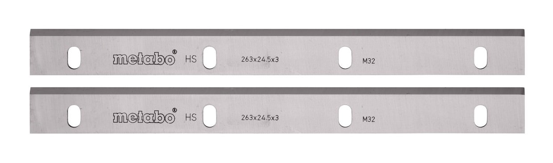 Metabo Multi 260 Hobelmesser HSS-18 W 260x20x2,5mm / ohne Nuten - 0920054030 (2 Stück)