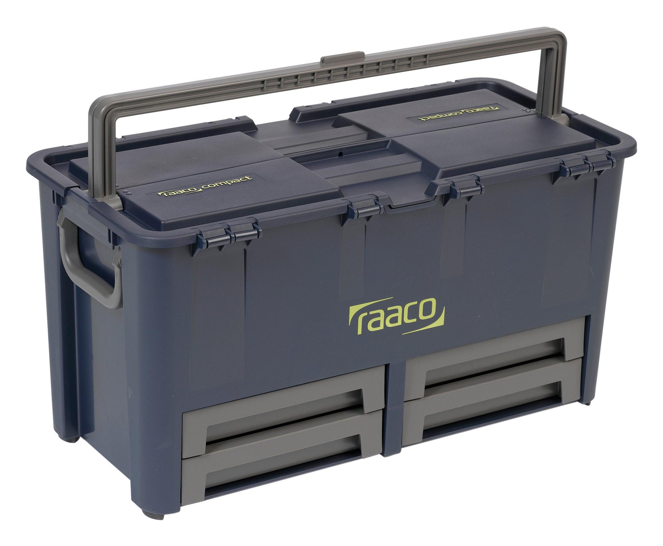 Werkzeugkoffer Compact 62 raaco blau - 136624