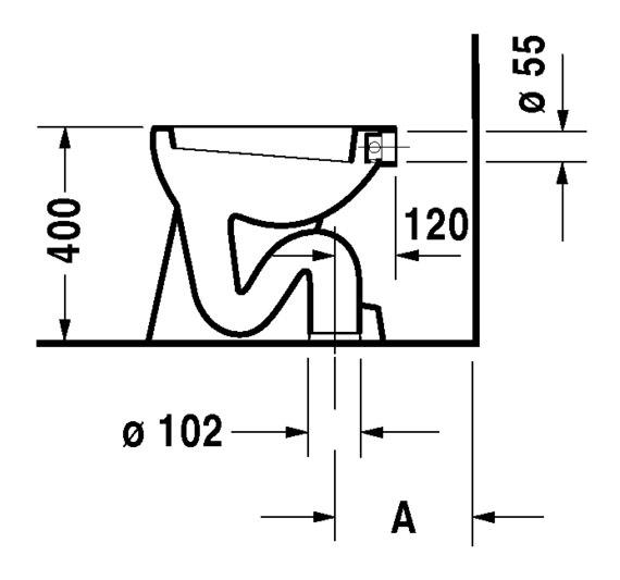 Favorit Duravit Duraplus Stand-WC Blitz 355 x 465 mm Flachspüler mit LV15