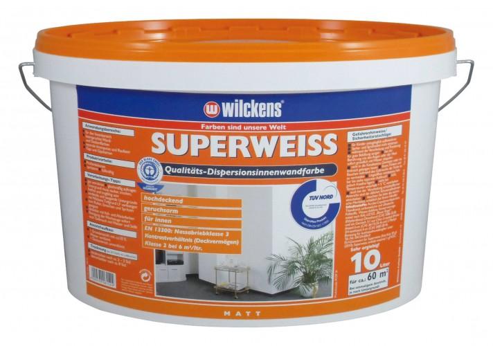 Wilckens Dispersionsfarbe Innen 10 L Superweiss Dispersionsfarben