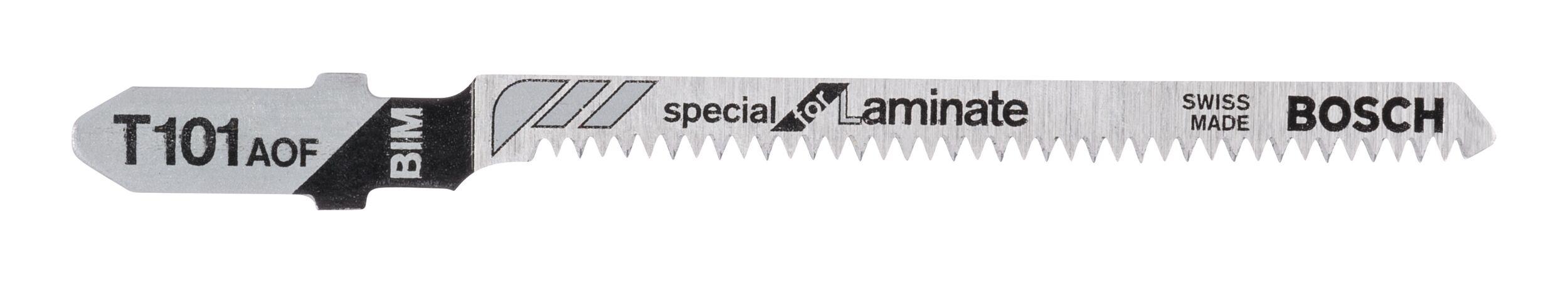 Bosch Zubehör T 101 BIF Special for Laminate Stichsägeblatt - 3er-Pack 2608636432