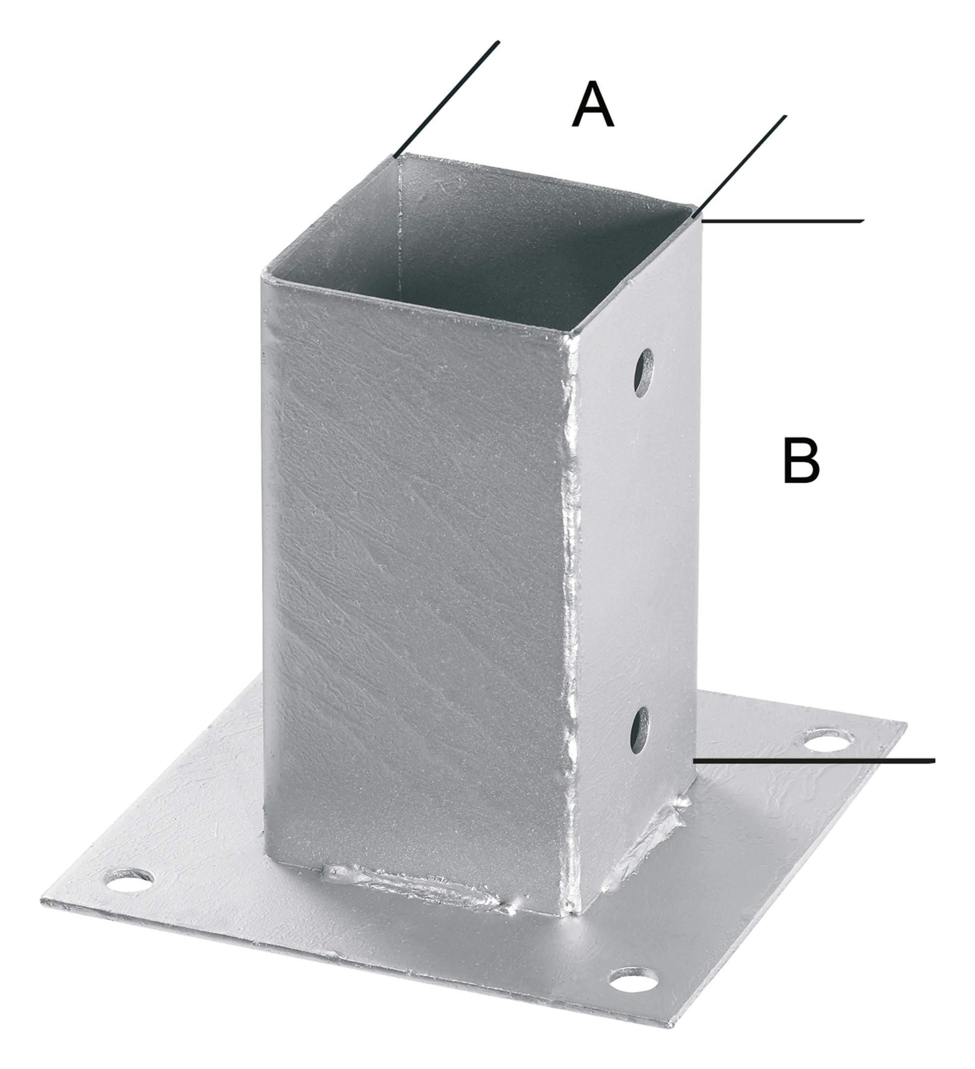 Hanseatischer Drahthandel H-Pfostenträger feuerverzinkt 101 mm Stärke 5,0mm