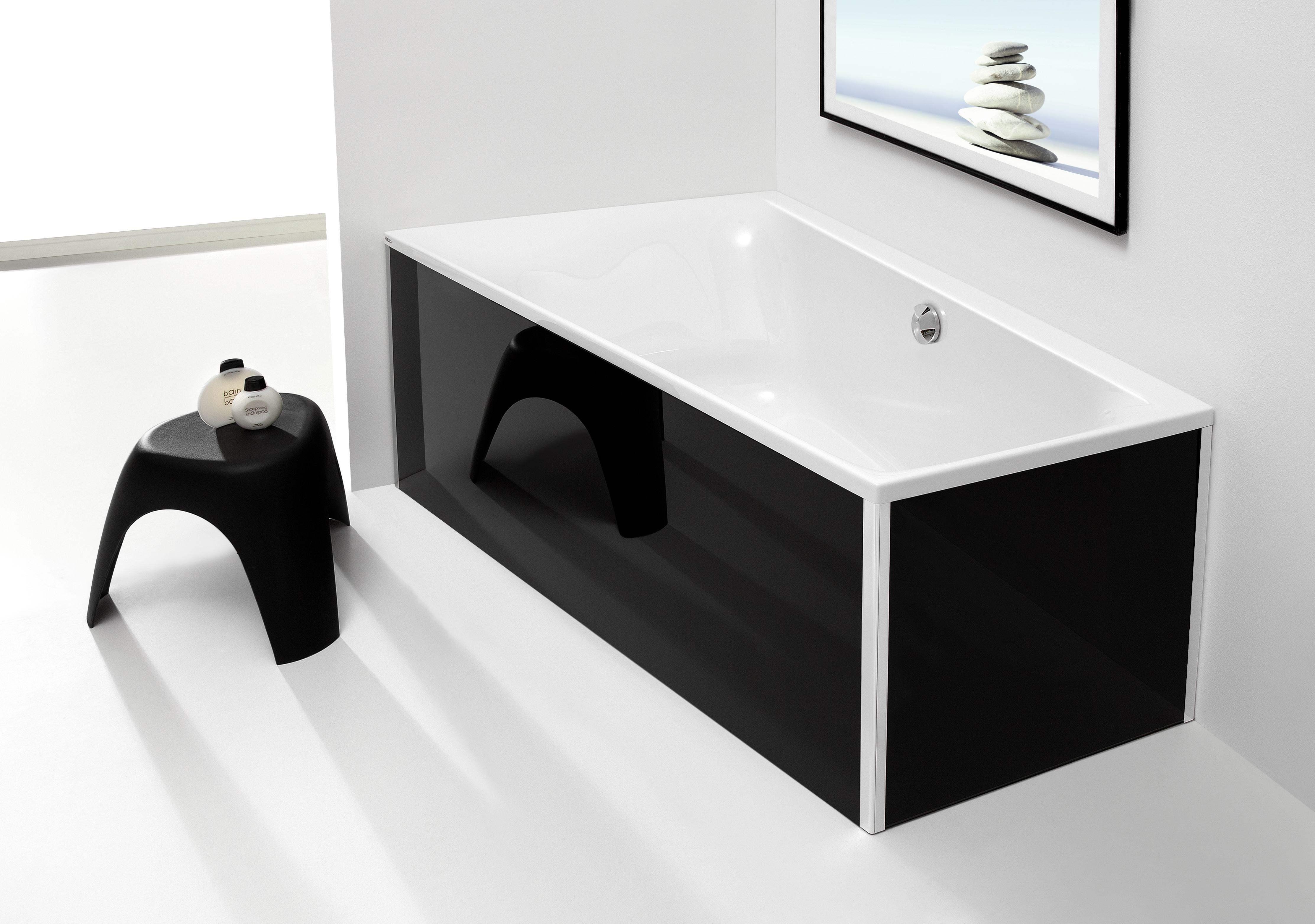 hoesch thasos glasverkleidung eckvariante f r badewanne. Black Bedroom Furniture Sets. Home Design Ideas