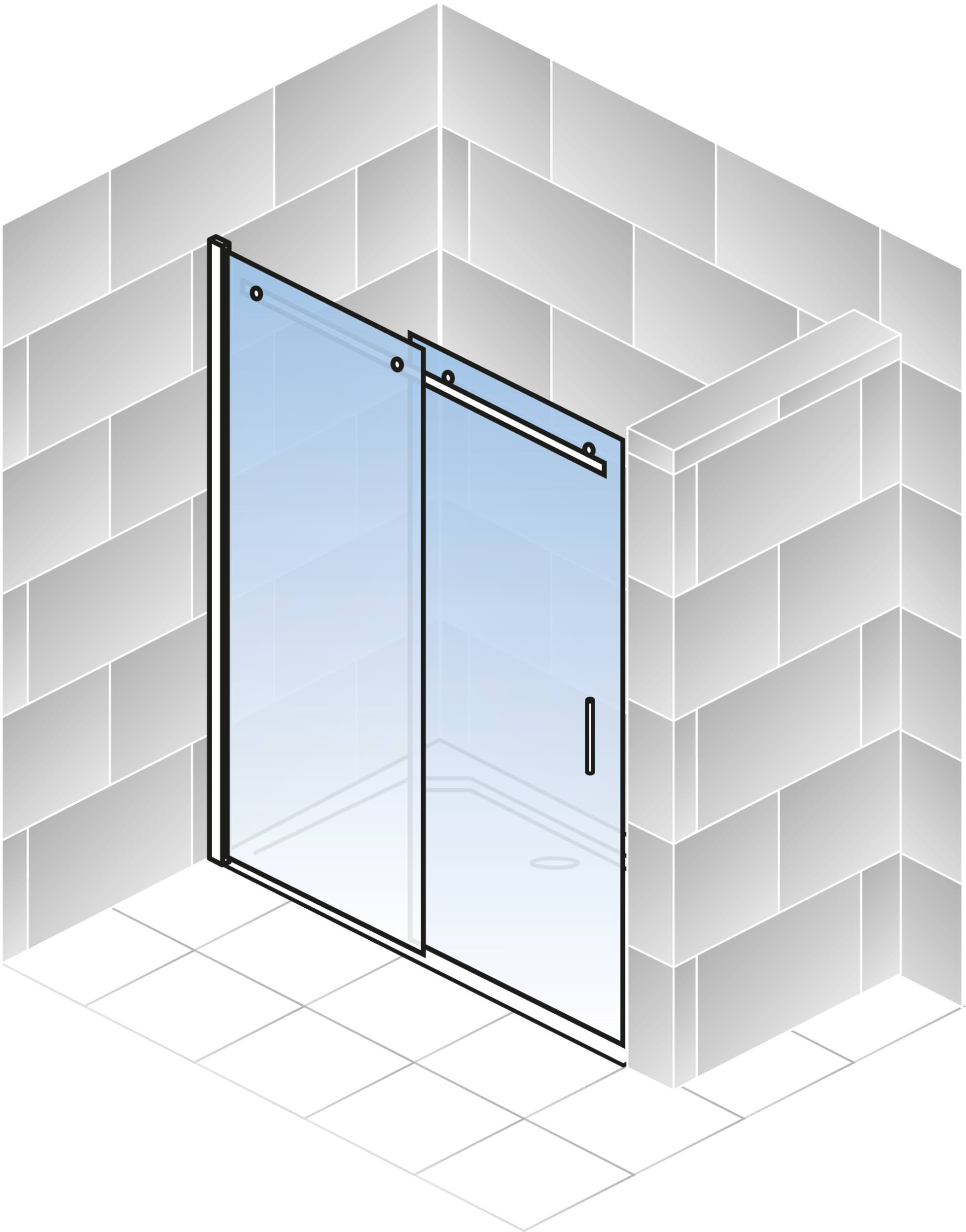 schulte alexa style 2 0 gleitt r f r nische klarglas hell chromoptik sonderma anschlag links. Black Bedroom Furniture Sets. Home Design Ideas