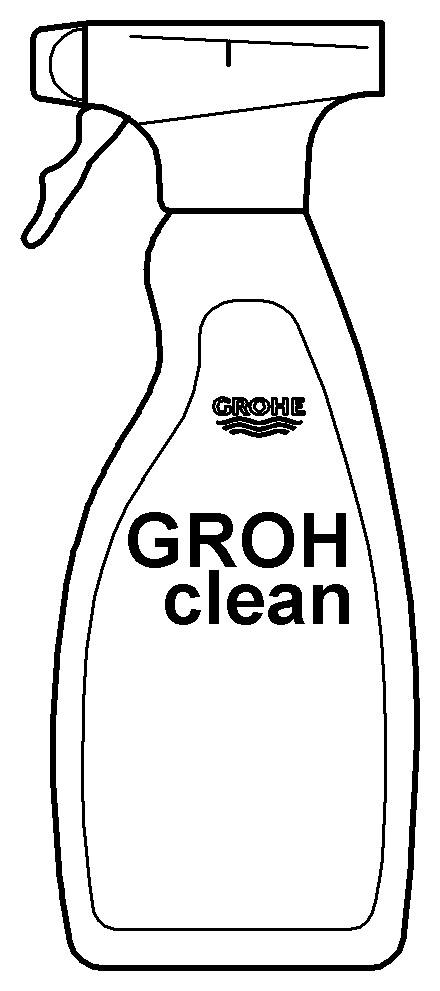 Grohe Grohclean 500 Ml In Der Spr Hflasche 48166000