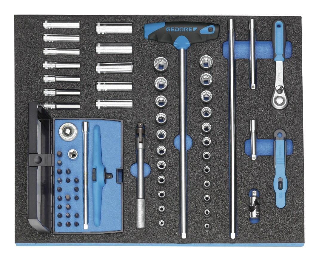 Gedore Werkzeugmodul CT2/4 Steckschlüsselsatz 1/4 - 2016478