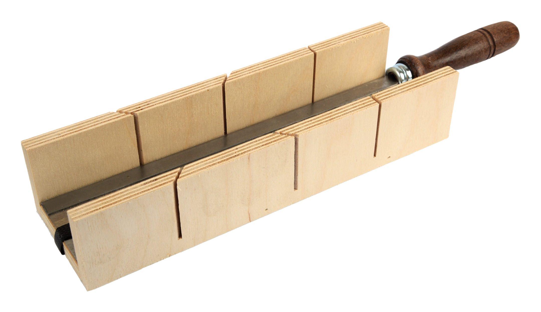 Fortis Schneidlade mit Feinsäge 300 x 57 x 40mm