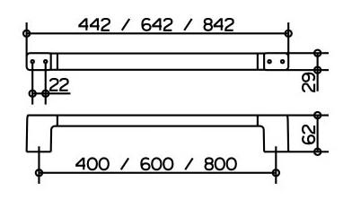 keuco collection moll badetuchhalter 600 mm verchromt 12701010600. Black Bedroom Furniture Sets. Home Design Ideas