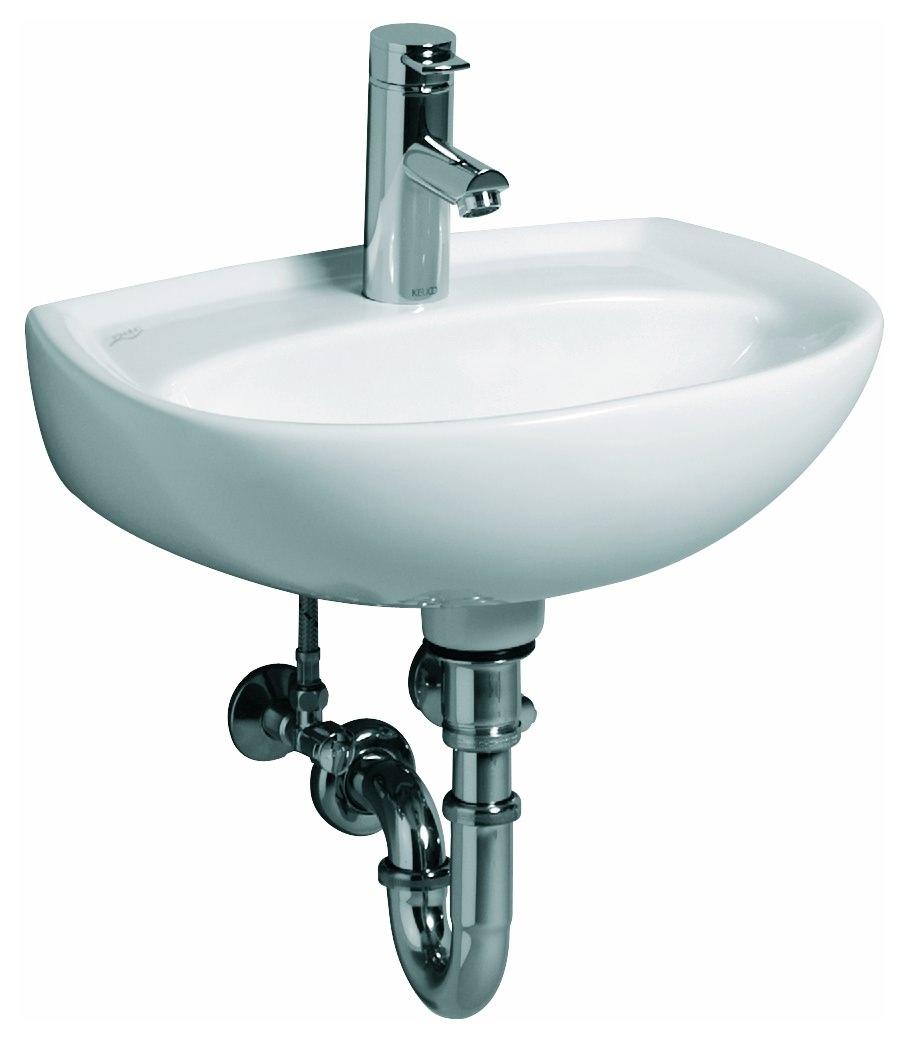 keramag renova nr 1 handwaschbecken 450mm x 340mm mit hahnloch ohne berlauf wei alpin. Black Bedroom Furniture Sets. Home Design Ideas