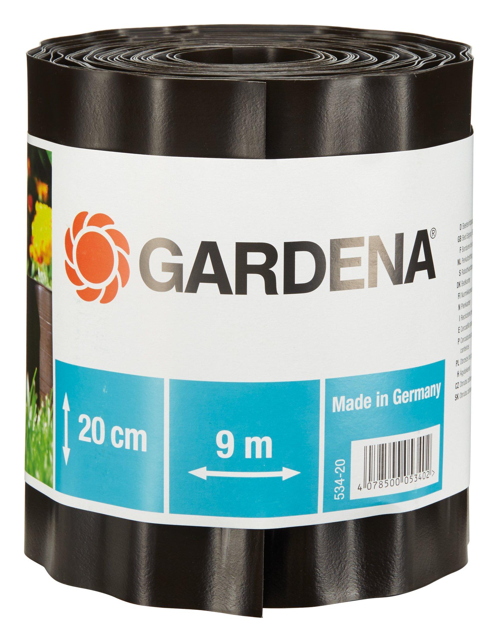 Gardena Beeteinfassung braun 15 cm hoch x 9 m lang - 00532-20