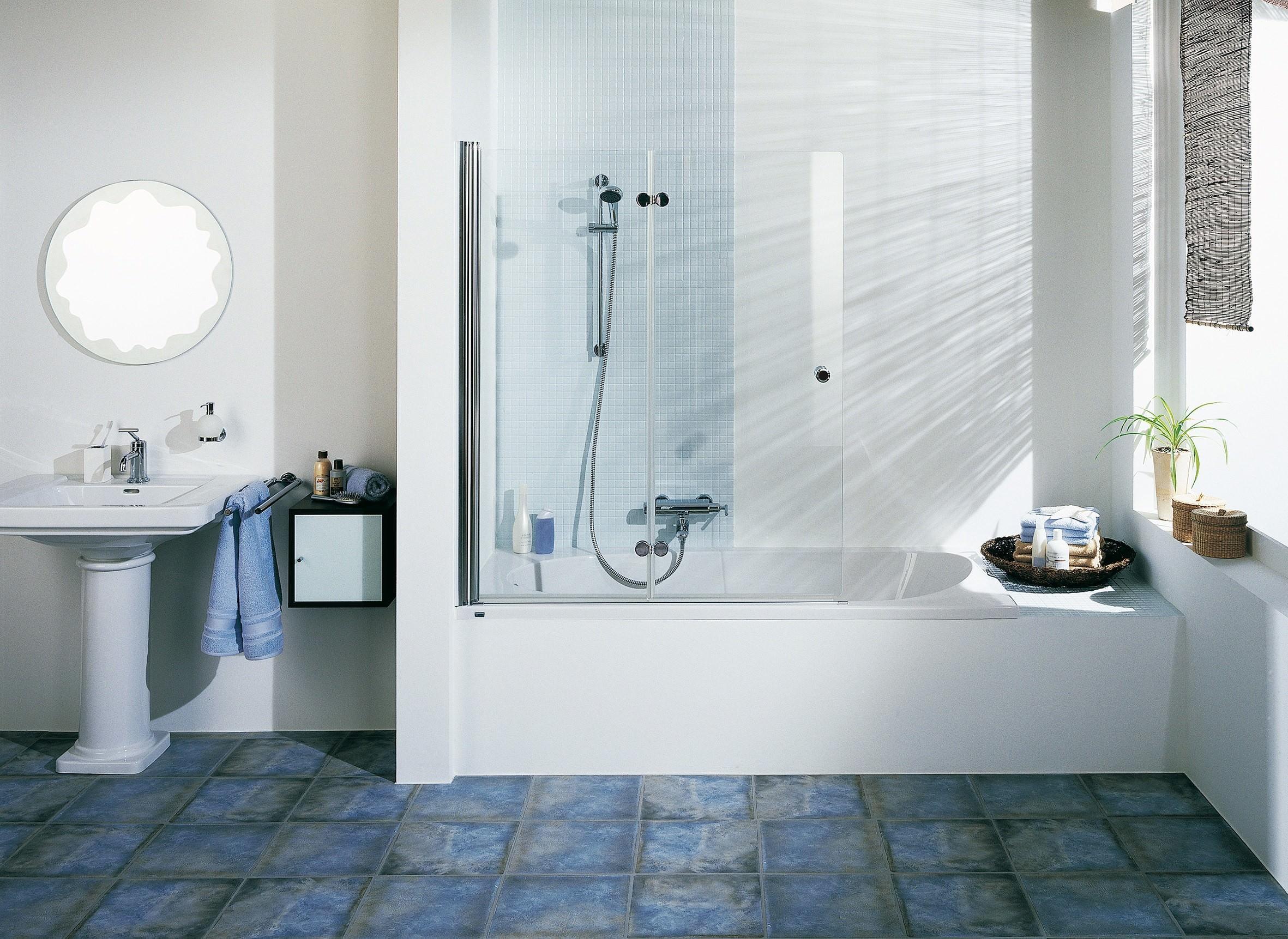 breuer elana komfort badewannendrehfaltt r 2 teilig klarglas hell alu silber matt 100cm 140cm. Black Bedroom Furniture Sets. Home Design Ideas