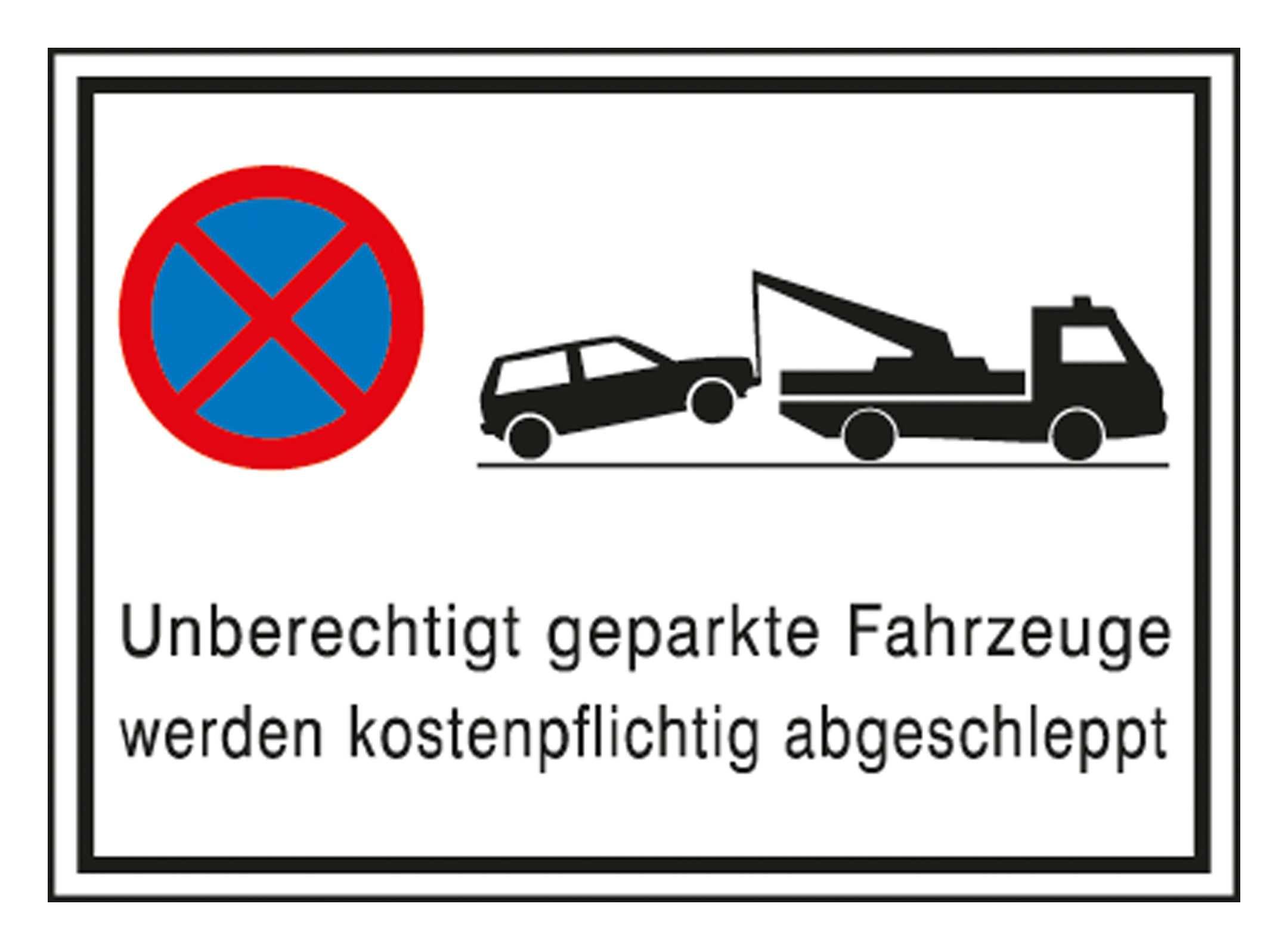 SafetyMarking Parkverbotschild Alu 600 x 400 mm Abschlepper - 11.5173