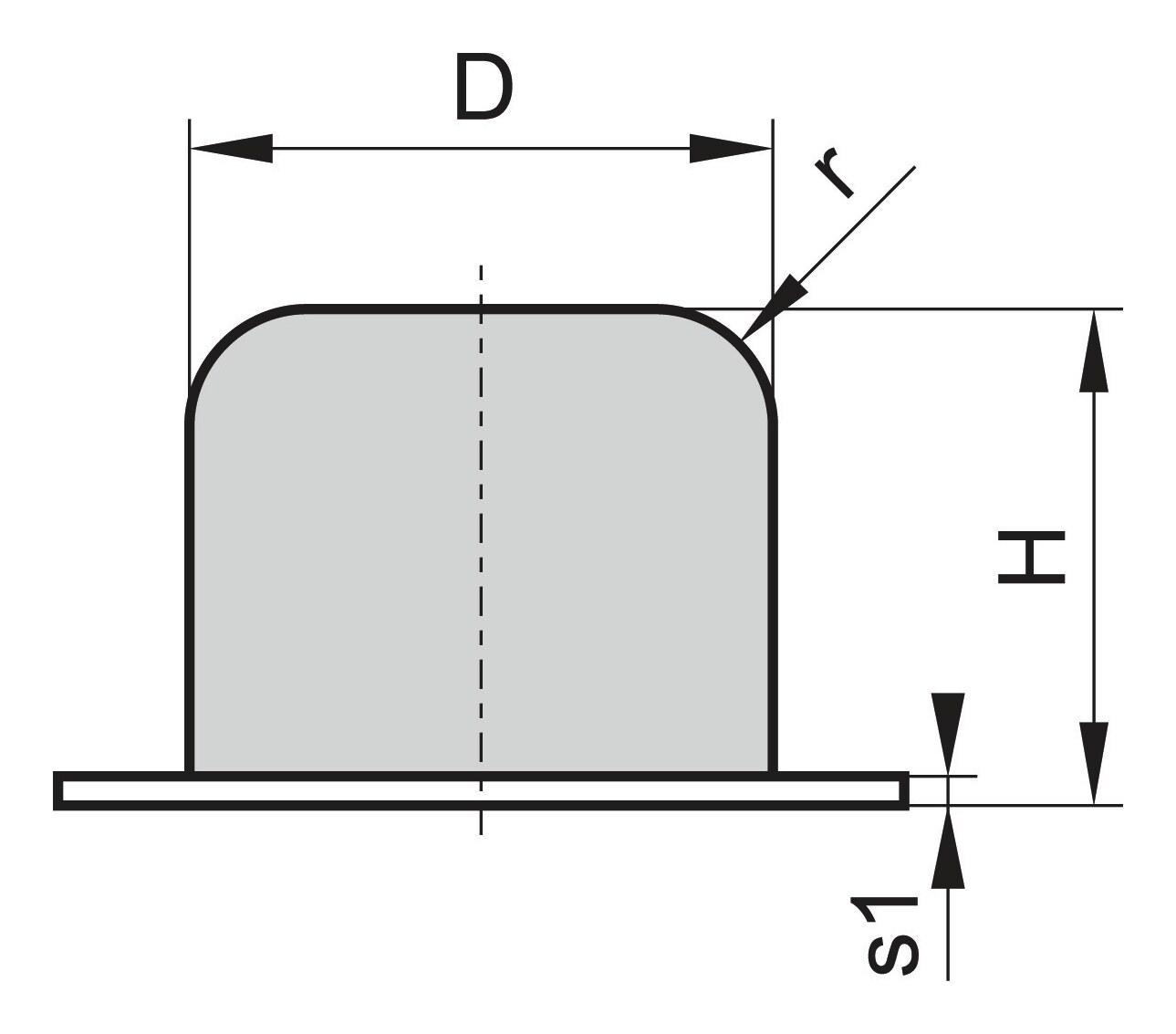 Kran Gummi Puffer GP-QP D63 H54
