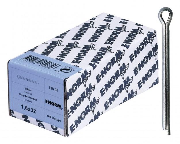 Splinte DIN 94 Stahl galvanisch verzinkt d 1-2