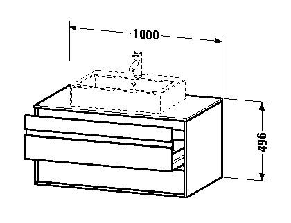 duravit ketho waschtischunterschrank h ngend 1000 x 496 x 550 mm mit 2 schubk sten f r. Black Bedroom Furniture Sets. Home Design Ideas