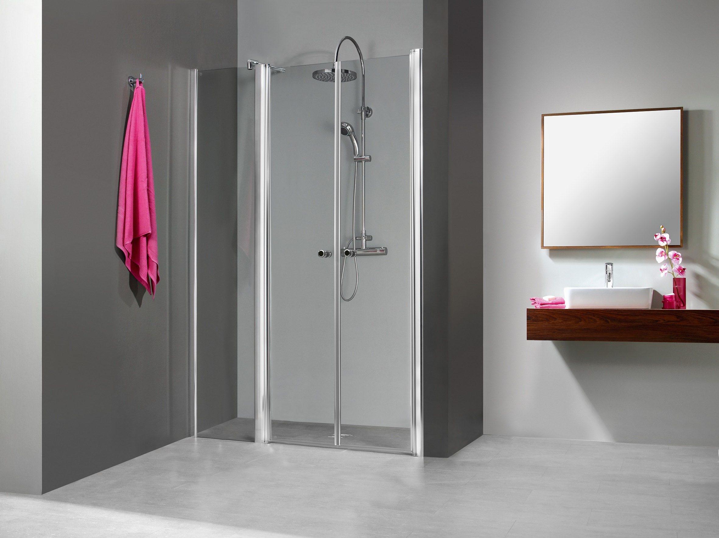 breuer elana 6 pendelt r mit nebenteil f r nische klarglas hell alu silber matt 90cm 200cm. Black Bedroom Furniture Sets. Home Design Ideas