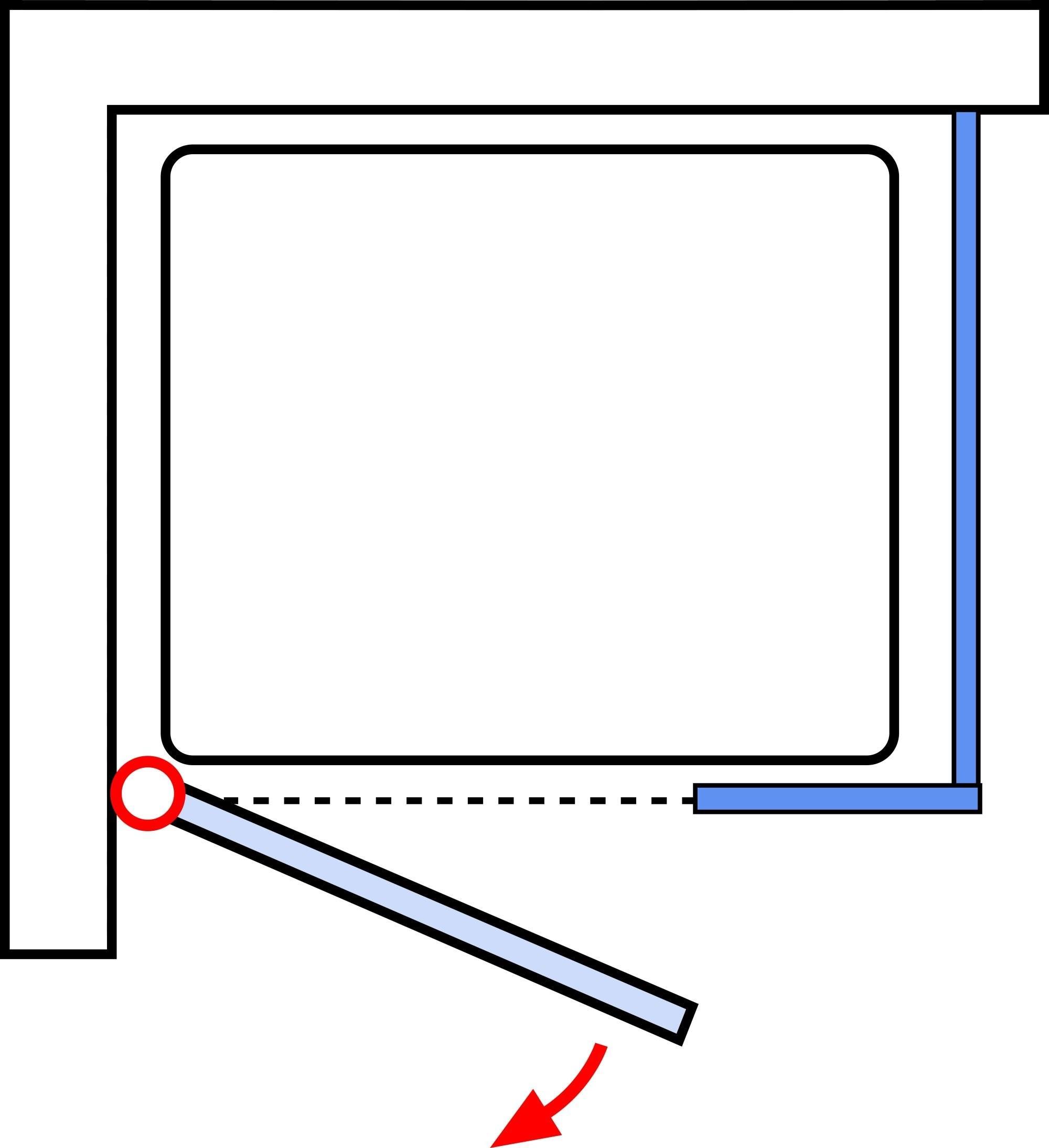 schulte davita dreht r mit nebenteil mit seitenwand echtglas inkl aufma und montage d48021. Black Bedroom Furniture Sets. Home Design Ideas