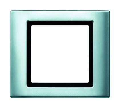 merten rahmen 1fach aluminium gl nzend kunststoff thermoplast 400160. Black Bedroom Furniture Sets. Home Design Ideas
