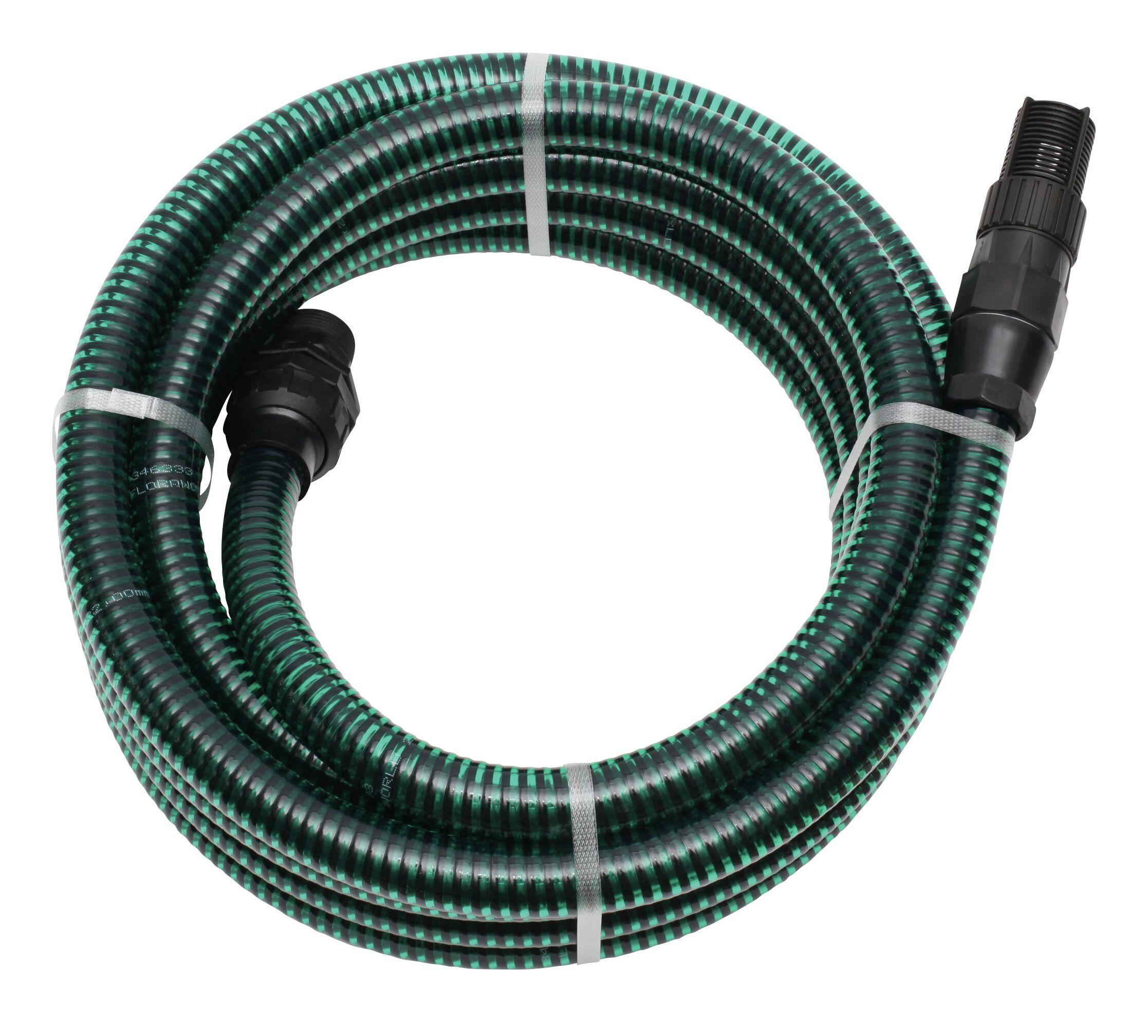 """Schlauchgarnitur 4m, 1"""" PVC-Armatur, grün"""