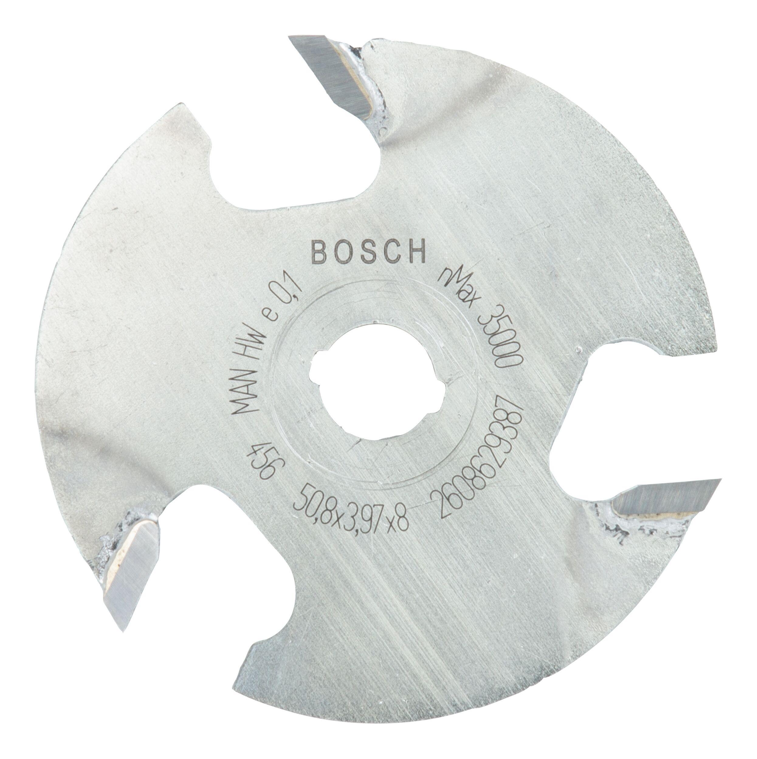 Bosch Zubehör Scheibennutfräser dreischneidig - 50,8 x 4 x 8 x 8 mm - 2608629387