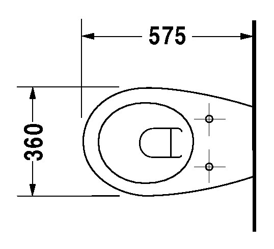 duravit duraplus wand wc colomba 360 x 575 mm tiefsp ler pergamon 2547094700. Black Bedroom Furniture Sets. Home Design Ideas