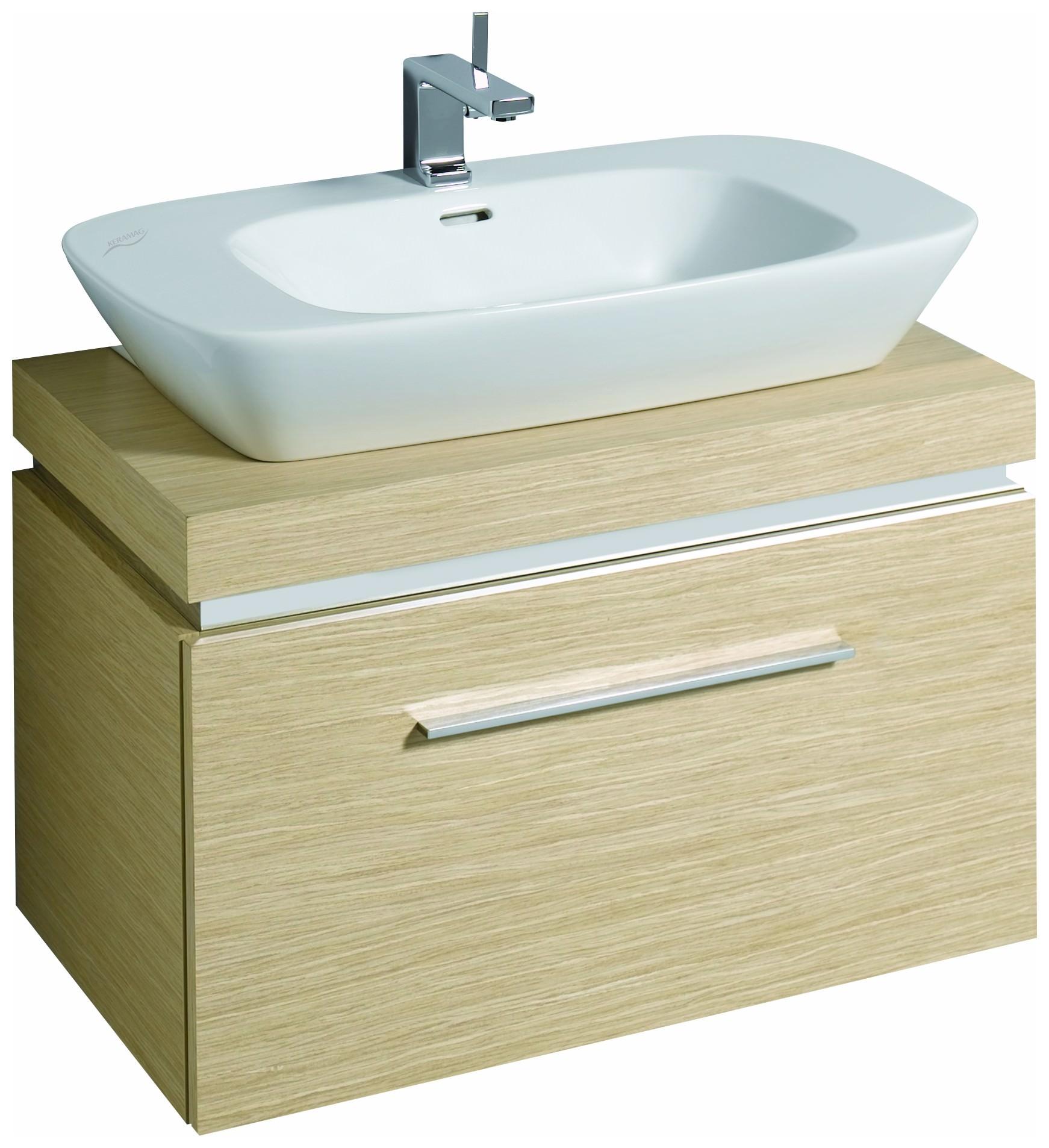 keramag silk waschtisch 800mm x 470mm wei alpin. Black Bedroom Furniture Sets. Home Design Ideas