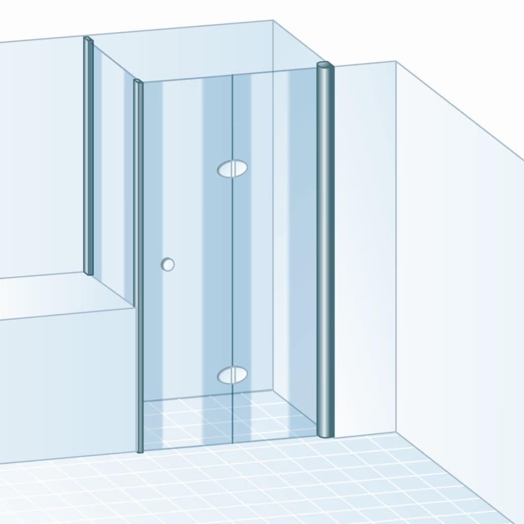 schulte garant drehfaltt r 2 teilig mit verk rzter. Black Bedroom Furniture Sets. Home Design Ideas