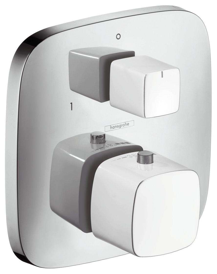 hansgrohe puravida thermostat unterputz fertigset weiss. Black Bedroom Furniture Sets. Home Design Ideas