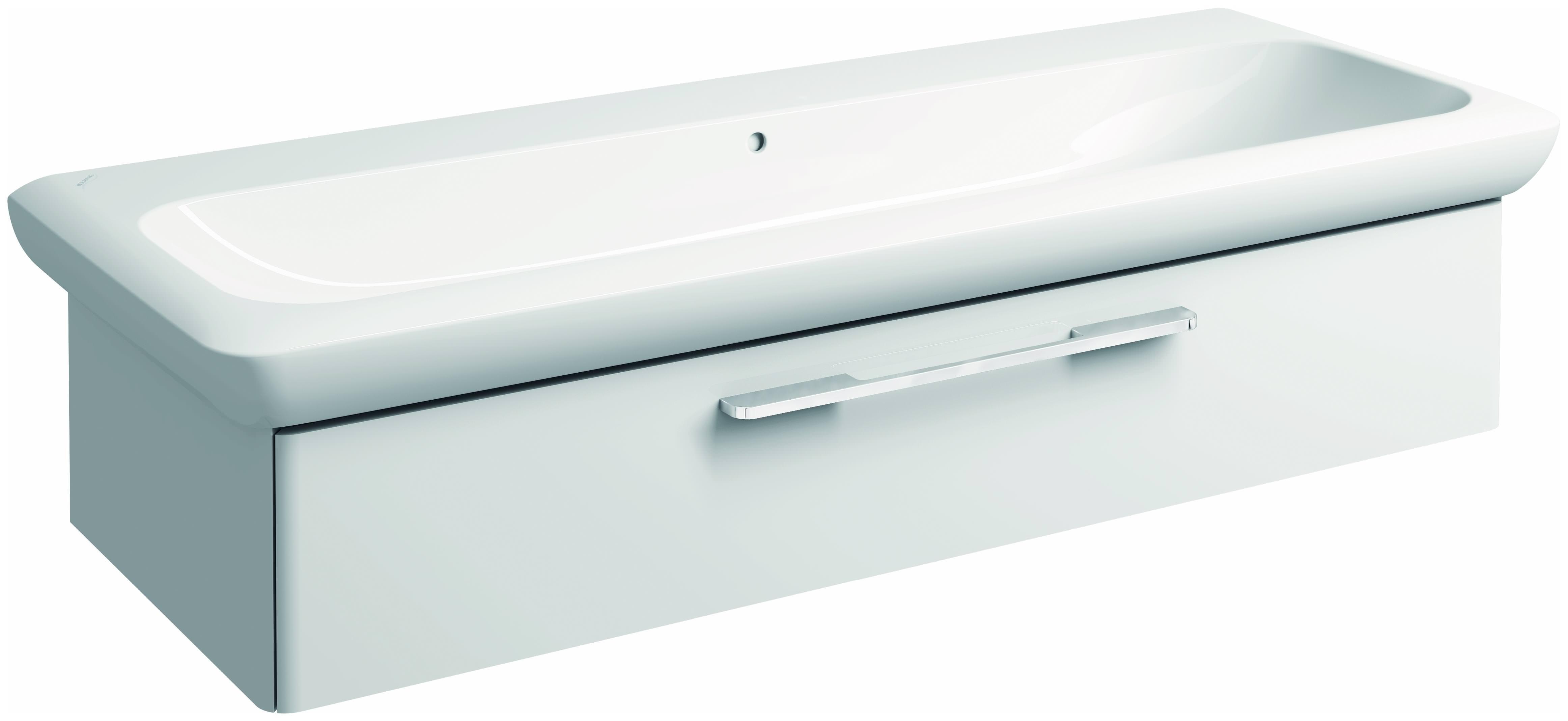 keramag it waschtisch ohne hahnloch mit berlauf 1300mm x. Black Bedroom Furniture Sets. Home Design Ideas