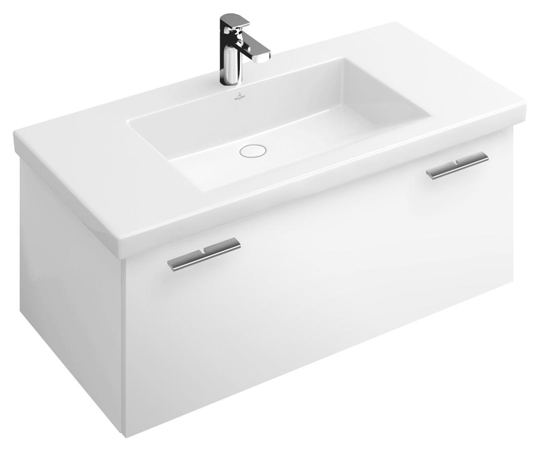 villeroy boch central line waschtischunterschrank 950 x 381 x 525 mm basic wei glossy white. Black Bedroom Furniture Sets. Home Design Ideas