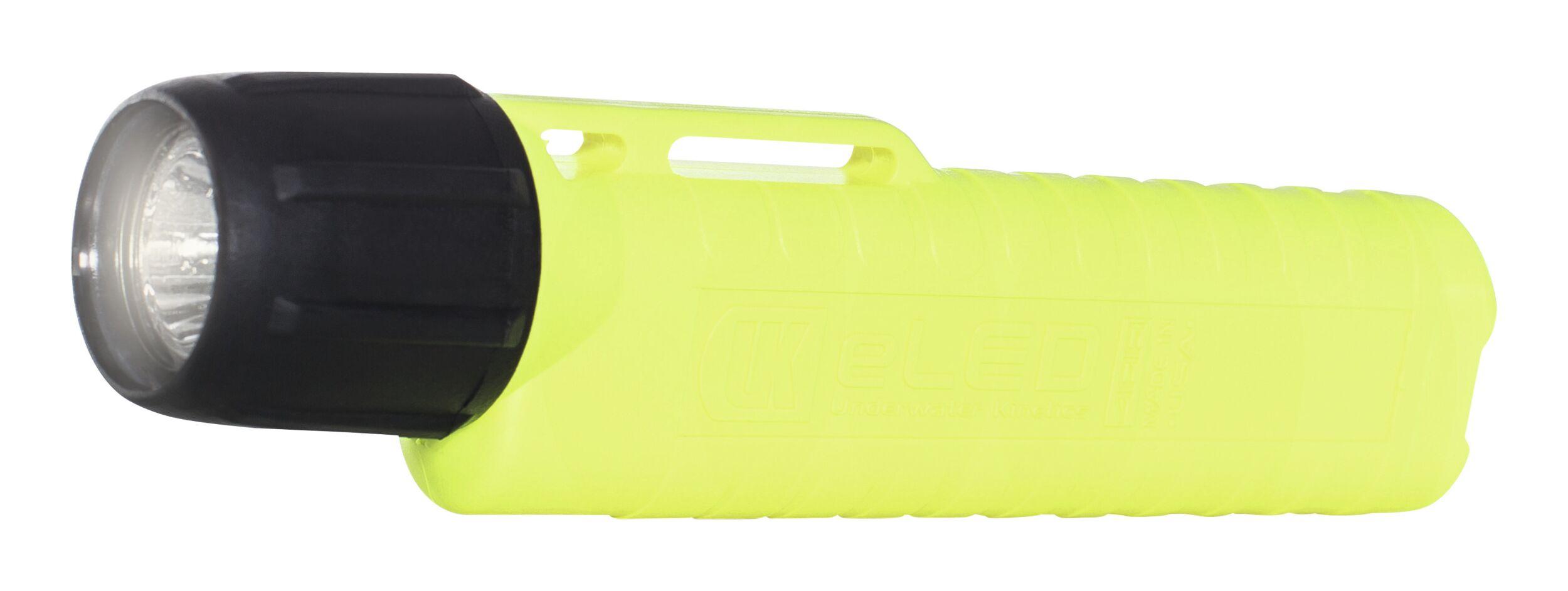 Helmlampe eLED RFL UK 4AA neongelb