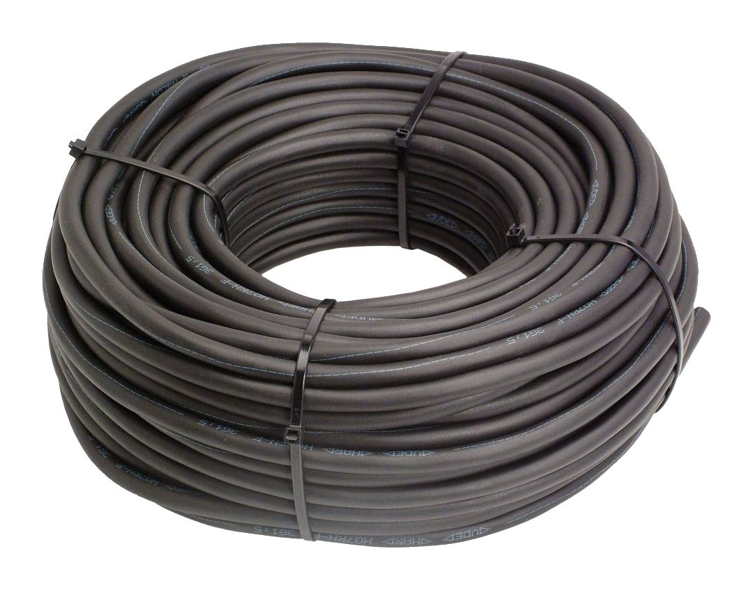 H07RN-F 2x1,5mm² Gummischlauchleitung schwarz 50 Meter Ring