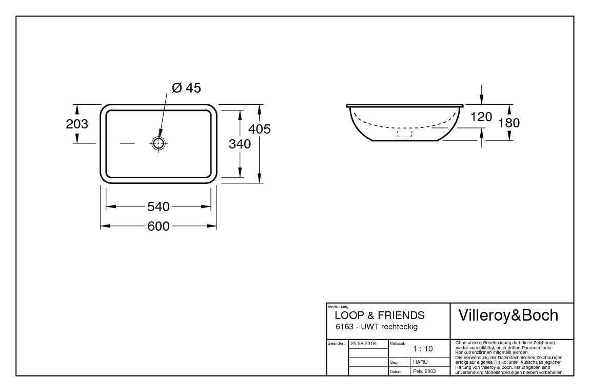 villeroy boch loop friends unterbauwaschtisch 540 x. Black Bedroom Furniture Sets. Home Design Ideas